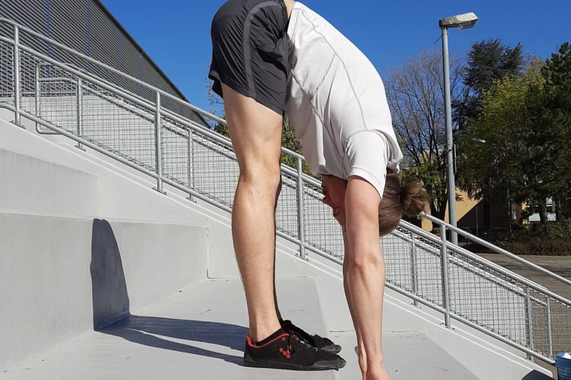 Me doing a Jefferson Curl to strengthen my Hamstrings and get more flexible.
