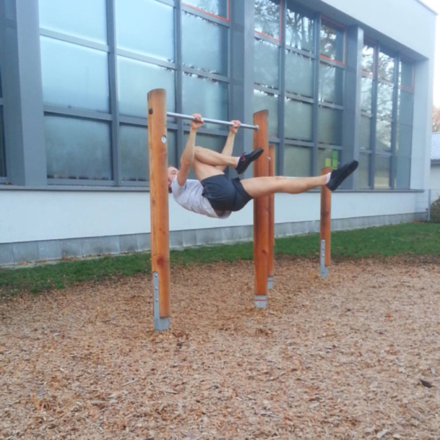 Me performing a One Legged Front Lever