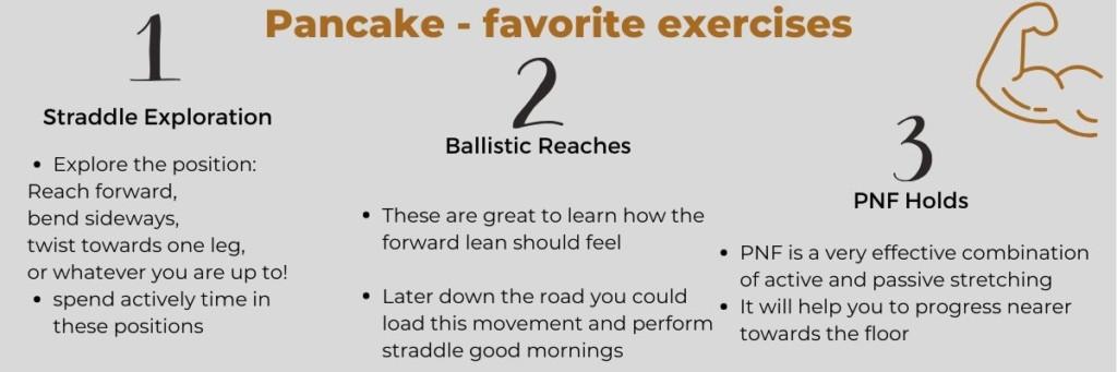 Pancake Stretch favorite exercises infopost