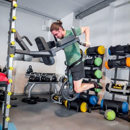 This image shows me doing some weighted dips.