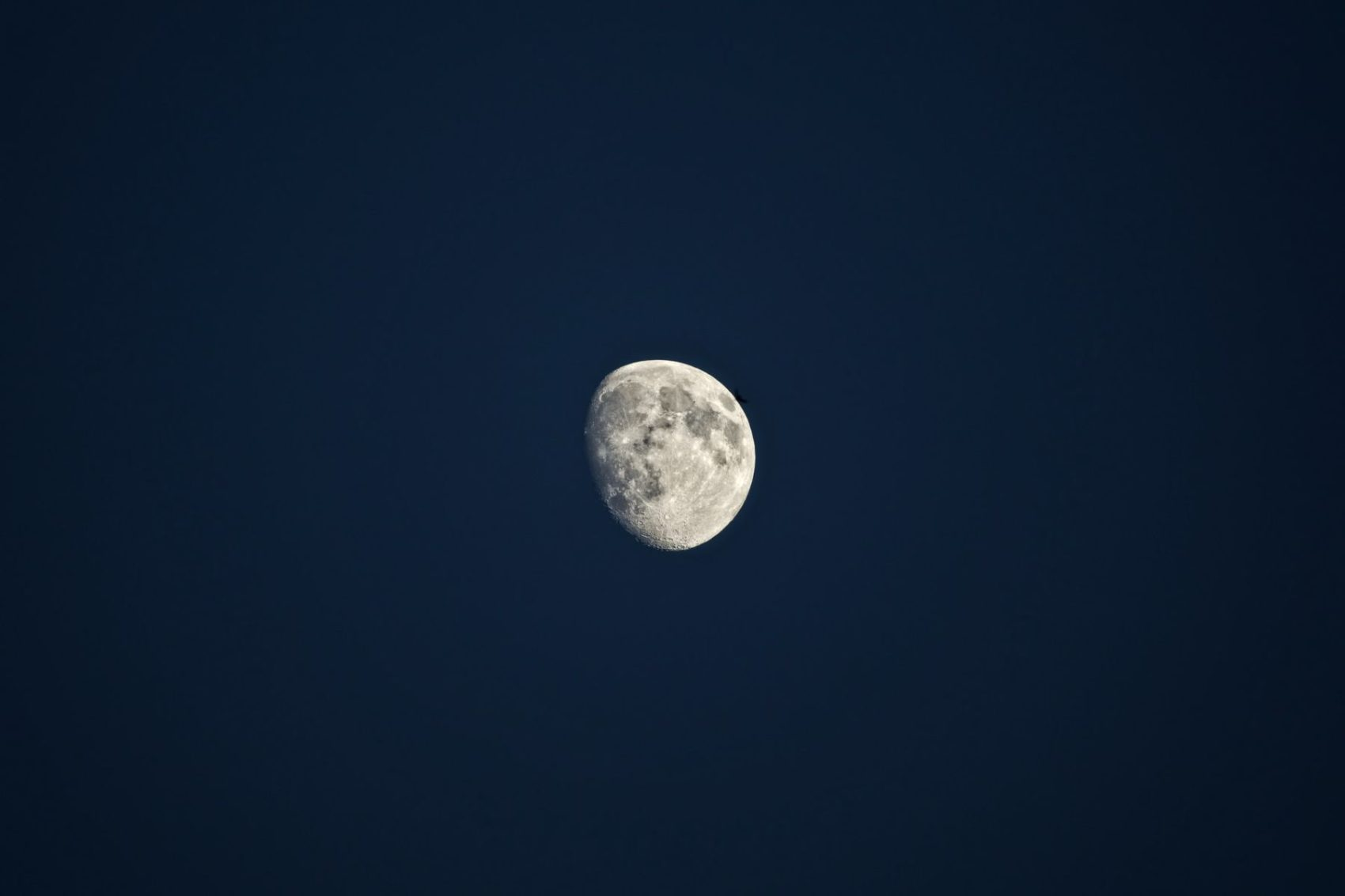 The Moon stands high at night.