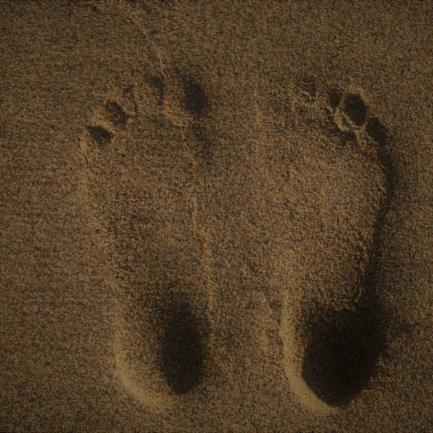 This image shows barefoot footprints which seem to be in optimal foot health regarding their shape.