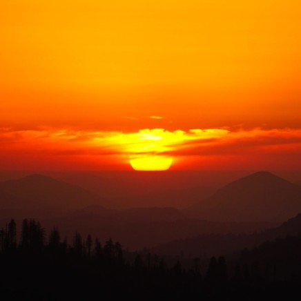 This image shows a sunset - daylight settling down