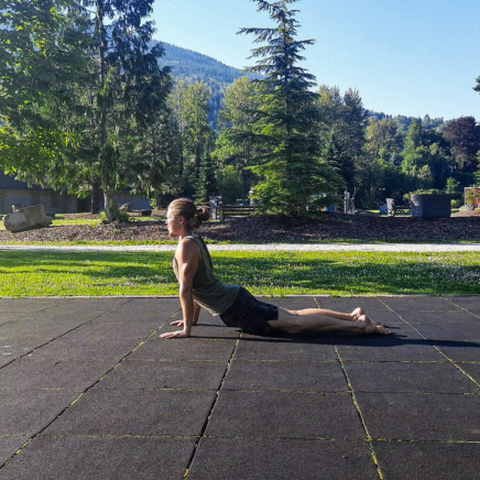 This image shows me performing a backbend for ab training and is a core exercise.